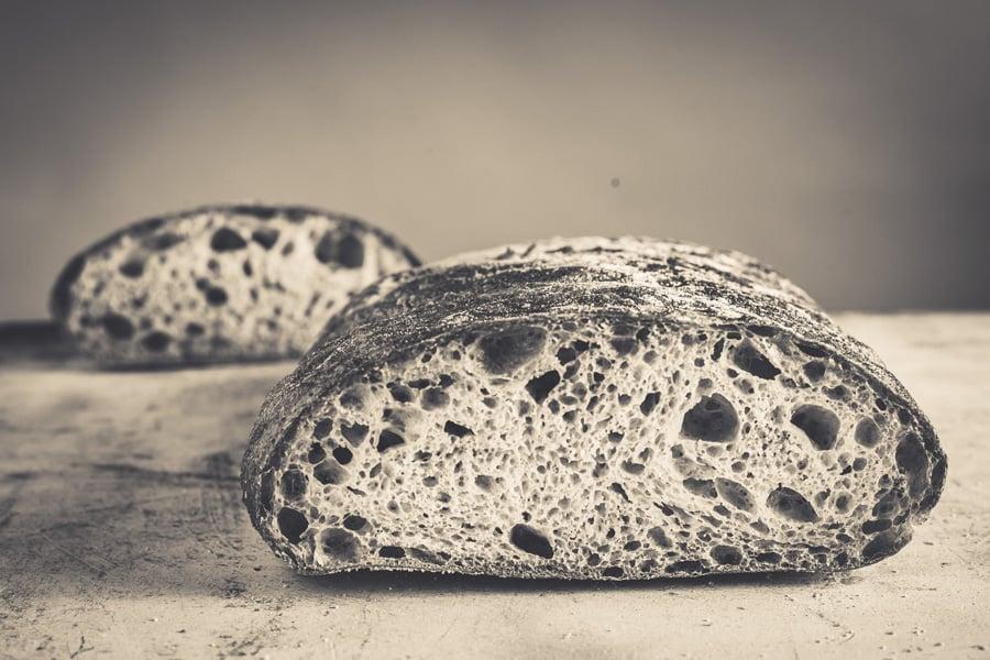 Avenue Bread artisan loaf black art white home page image