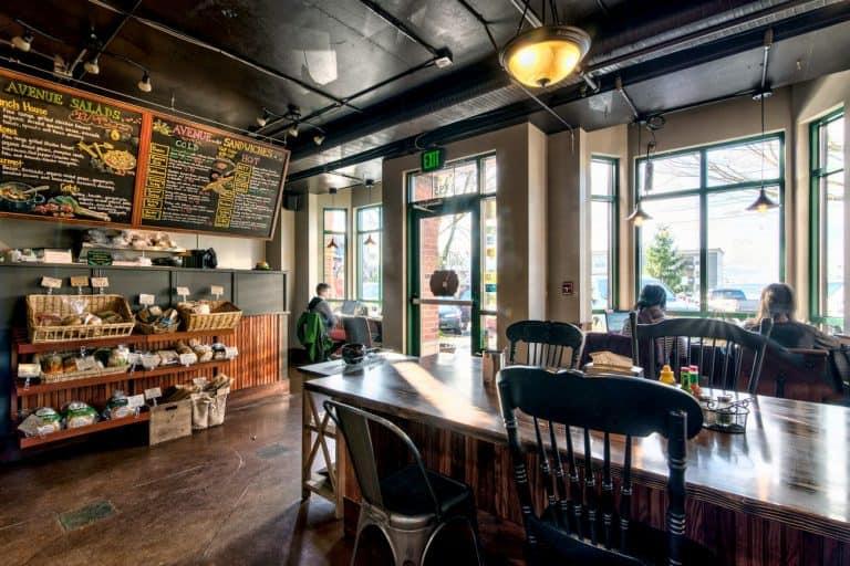 Avenue Bread Fairhaven interior, menu board